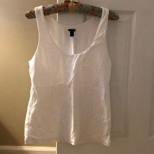 J Crew Fitted White Tank